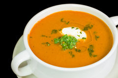 Portion of fresh made Pumpkin Creme Soup Royalty Free Stock Photos