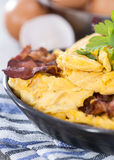 Portion of fresh made Scrambled Eggs Royalty Free Stock Photo