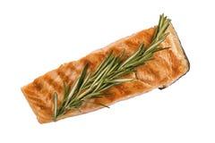 Portion of fresh salmon fillet Royalty Free Stock Photos