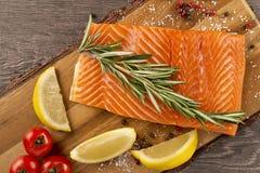 Portion of fresh salmon fillet Royalty Free Stock Photo