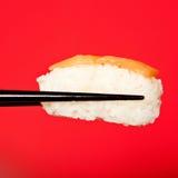 Portion of fresh salmon sushi Stock Images