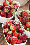 Portion of fresh Strawberries Royalty Free Stock Images