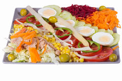 Portion with fresh vegetables Royalty Free Stock Photo