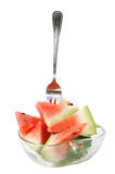 Portion of Fresh Watermelon Royalty Free Stock Photos