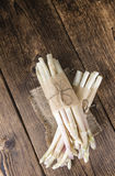 Portion of fresh white Asparagus (close-up shot) Royalty Free Stock Photo