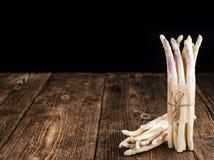 Portion of fresh white Asparagus (close-up shot) Royalty Free Stock Image
