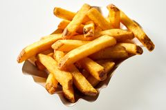 Portion of freshly made pommes frites royalty free stock images