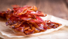 Portion of fried Bacon Royalty Free Stock Photos
