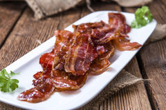 Portion of fried Bacon Royalty Free Stock Photo