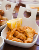 Portion of fried fish Royalty Free Stock Images