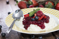Portion of fruity Rice Pudding Royalty Free Stock Image