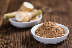 Portion of Galangal Powder Royalty Free Stock Images