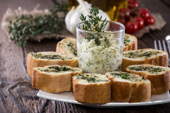 Portion of Garlic Bread Stock Images