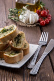 Portion of Garlic Bread Royalty Free Stock Photos