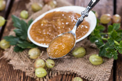 Portion of Gooseberry Jam Royalty Free Stock Photos
