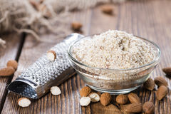 Portion of grated Almonds Stock Images