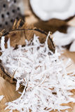 Portion of Grated Coconut Stock Photo