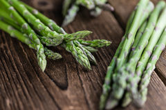 Portion of green Asparagus Royalty Free Stock Photos