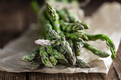 Portion of green Asparagus Royalty Free Stock Photo