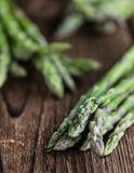 Portion of green Asparagus Stock Photography