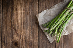 Portion of green Asparagus Stock Images