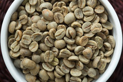 Portion of Green Coffee (detailed close-up shot). Antioxidant, d Stock Images