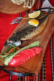A portion of grilled fish Royalty Free Stock Image