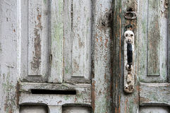 Portion of Grungy Door Royalty Free Stock Photos