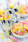 Portion of Gummi Candy Stock Images