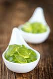 Portion of gummy candy (with lime taste) Stock Photo