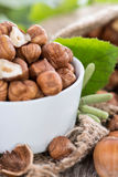 Portion of Hazelnuts Stock Image