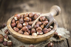 Portion of Hazelnuts Royalty Free Stock Image
