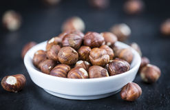 Portion of Hazelnuts Royalty Free Stock Photo