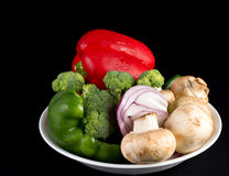 Portion of daily healthy organic vegetable diet Stock Photo