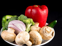Portion of daily healthy organic vegetable diet Stock Photography