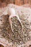 Portion of Hemp Seeds Stock Image