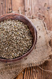 Portion of Hemp Seeds Stock Photos