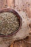 Portion of Hemp Seeds Stock Photos