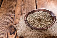 Portion of Hemp Seeds Royalty Free Stock Photography