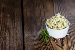 Portion of Herb Butter Royalty Free Stock Photo