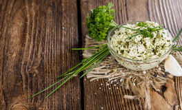 Portion of Herb Butter Stock Photography