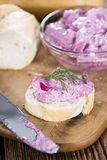 Portion of Herring Salad (with beet) Royalty Free Stock Image