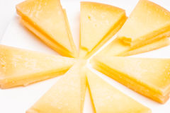 Portion of homemade cheese Royalty Free Stock Photos