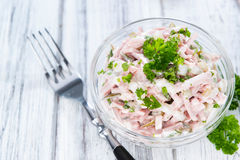 Portion of homemade Meat Salad Royalty Free Stock Photography