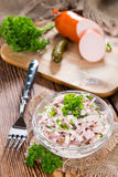 Portion of homemade Meat Salad Stock Image