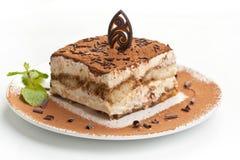 Portion of italian dessert tiramissu royalty free stock images
