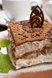 Portion of italian dessert tiramissu Royalty Free Stock Photography