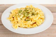 Italian pasta with sauce Royalty Free Stock Photo