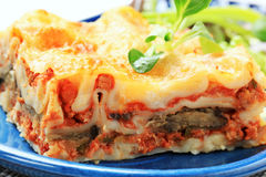 Portion of lasagne Royalty Free Stock Photos