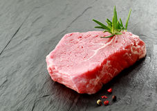 Portion of lean raw beef steak Stock Image